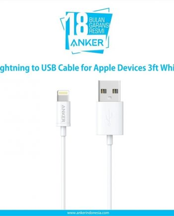 Anker Lightning to USB Cable for Apple Devices 3ft White A7101H22