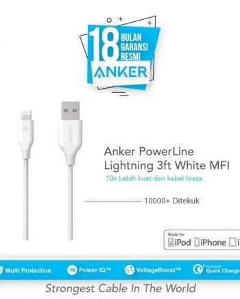 Kontruksi Kabel Kuat Anker PowerLine Kabel USB Charger Pertama di Dunia yang diperkuat dengan serat fiber. Yang akan membuatnya lebih kuat dari kabel konvensional. 10 Kali Lebih Tahan Lama Kami menekuk Kabel ini Lebih dari 10.000 kali dan tidak ada kerusakan atau perubahan kinerja. Pengisian Cepat Selain kabel ber diameter lebar Kami juga mengurangi resistensi kabel. Powerline Micro USB mampu di sandingkan dengan USB Charger tercepat yang anda punya. Apple MFi Certified Setiap kabel Lightning Anker berisi chip otorisasi unik yang dikeluarkan oleh Apple untuk memastikan 100% sync & kompatibel dengan perangkat Lightning.