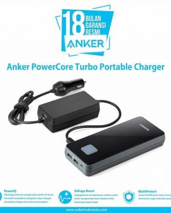 World's Record Fastest Re-Charge Powerbank! Kecepatan tiada banding. Umumnya dengan teknologi Quick Charge untuk mengisi Powerbank ukuran 16,000 Membutuhkan waktu 7-8 Jam. Sekarang Anker Hanya butuh 1,5 Jam buat mengisi ulang powerbank ini! Dari 0% - 100% hanya 1,5 JAM !!! Tercepat di dunia, Sangat cepat dengan Colokan Mobil DC 12V bisa di charge di mobil / di rumah (Standard 2Amp)