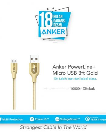 Anker PowerLine+ Micro USB Cable 3ft/0.9m - Gold [A8142HB1]