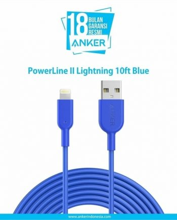 Anker Kabel PowerLine II 10ft Lightning iPhone blue - A8434H31