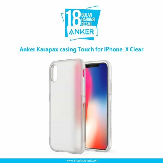 Anker Karapax casing Touch for iPhone X Clear A9004H01
