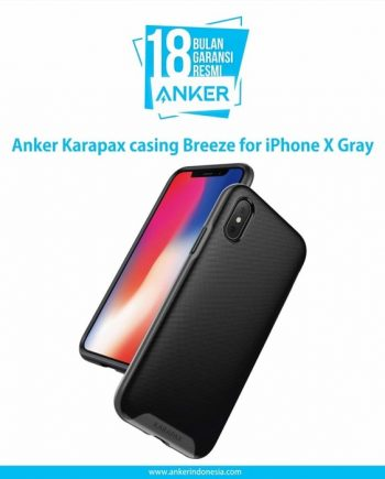 Anker Karapax casing Breeze for iPhone X Gray A9016HA1