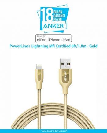 Anker PowerLine+ Lightning 6ft Golden [A8122HB1]
